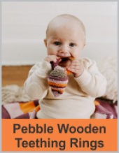 Pebble Wooden Teething Rings